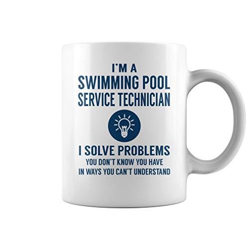 Swimming Pool Service Technician I Solve Problems Mug - Coffee Mug White