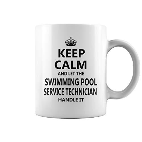 Swimming Pool Service Technician Keep Calm Job Title Mug - Coffee Mug White