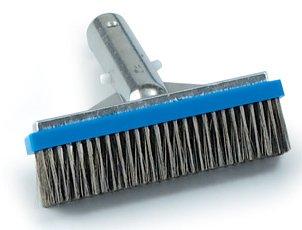 5&quot Alum Back Pool Brush - Stainless Steel Bristles - 11020