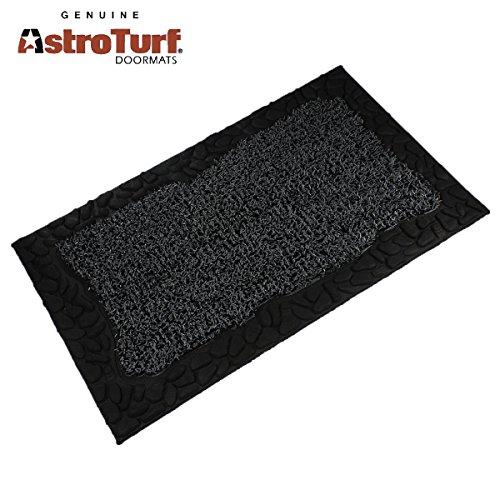 Clean Machine Astroturf Doormat Mat Zen Pebbles 18&rdquox30&rdquo Shoe Scraper Green Gray