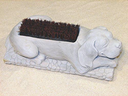 DOG BOOT BRUSH Concrete Gray 17 PUPPY SHOE SCRAPER CAST CEMENT Outdoor GARDEN