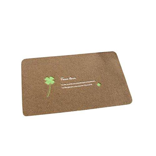 FindNew Fabric Door Mat Entrance Rug Floor Mats Shoe Scraper Doormat Kitchen Bath Mats 19 by 31-Inch