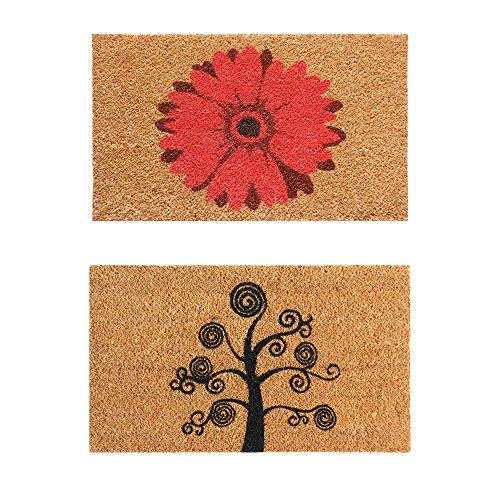 Rubber-Cal Shoe Scraper Home Doormats Set of 2 18 x 30