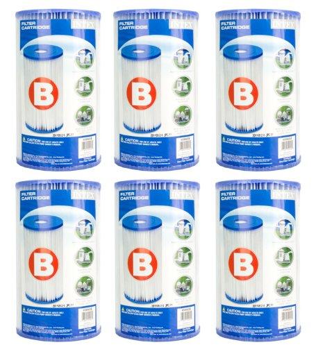 Intex Pool Easy Set Filter Cartridge - Type B 6 Pack  29005e 59905e