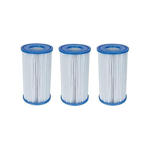 Bestway 58012 Swimming Pool Filter Pump Replacement 42x8 Cartridge 3 Pack