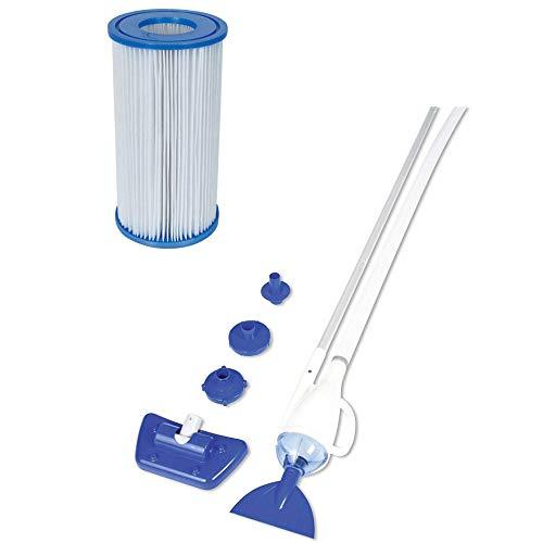 Bestway 58212 AquaCrawl Pool Vacuum Filter Pump Cartridge Type III A 6 Pack
