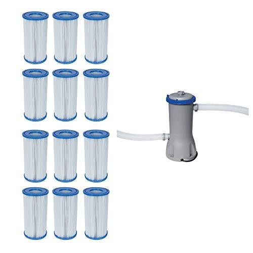 Bestway Pool Filter Pump Cartridge Type-III 12 Pack  Pool Filter Pump System