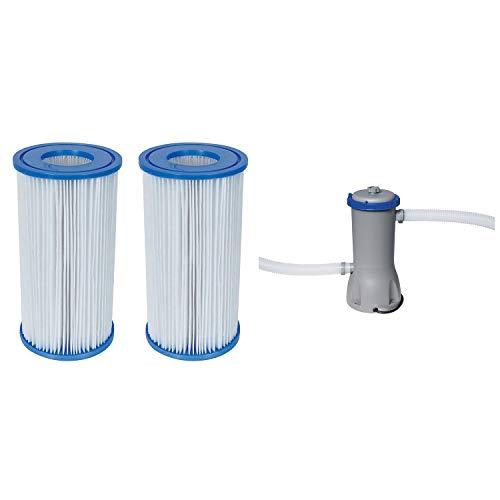 Bestway Pool Filter Pump Cartridge Type-III 2 Pack  Pool Filter Pump System