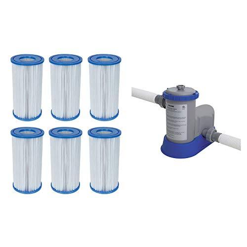 Bestway Pool Filter Pump Cartridge Type-III 6 Pack  Pool Filter Pump System