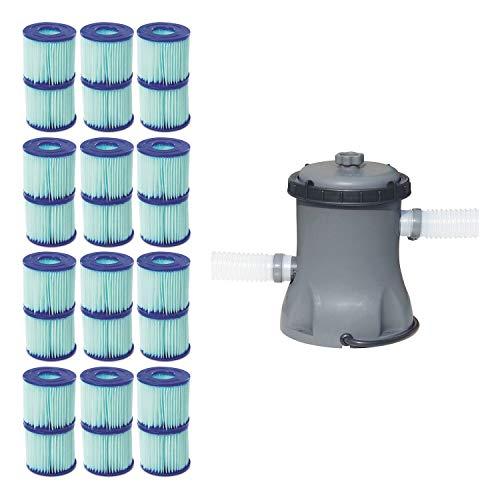 Bestway Pool Filter Pump Cartridge Type VIID 12 Pack  Pool Filter Pump