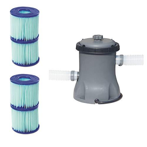 Bestway Pool Filter Pump Cartridge Type VIID 2 Pack  Pool Filter Pump