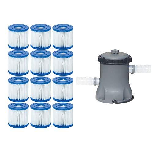 Bestway Pool Filter Pump Cartridge Type VIID 6 Pack  Pool Filter Pump