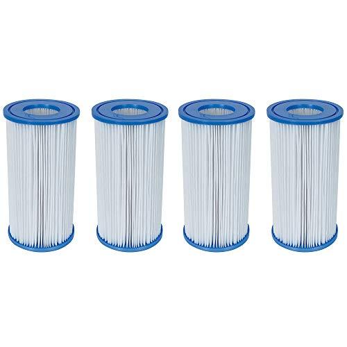 Bestway Swimming Pool Filter Pump Replacement Cartridge Type-III A 4 Pack
