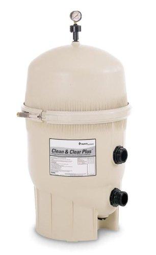 Pentair 160301 Cleanamp Clear Plus Fiberglass Reinforced Polypropylene Tank Cartridge Pool Filter 420 Square Feet