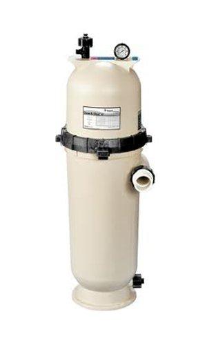Pentair 160355 Clean & Clear Rp Fiberglass Reinforced Polypropylene Tank Cartridge Pool Filter, 150 Square Feet