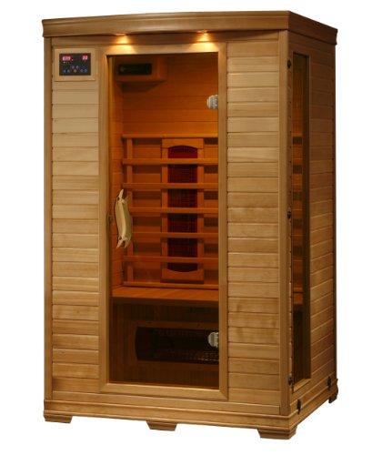 2-person Hemlock Deluxe Infrared Sauna W 5 Ceramic Heaters