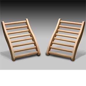 Dynamic Canadian Hemlock Sauna Backrest 2-pack 100 Natural Hemlock Wood Construction S-Shape No Stains All Natural Finish Backrest