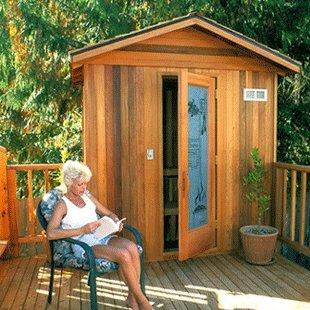 Finlandia Outdoor Sauna 4 x 4 with Roof Kit