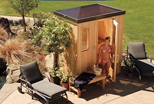 Finlandia Outdoor Sauna 6 x 8 with Starline Skylight Roof