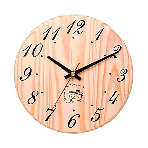 signmeili Sauna Clock Decorative Timer Clock,Wooden Bath Timer Stylish Appearance High Temperature Resistance Easy Installation for Sauna Accessory Sauna Room Home Decor