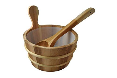 Cedar Sauna Bucket With Scoop Ladleamp Liner