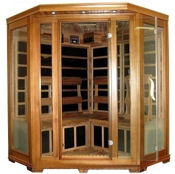 Four 4 Person Cedar Carbon Fiber Far Infrared Fir Sauna Indoor