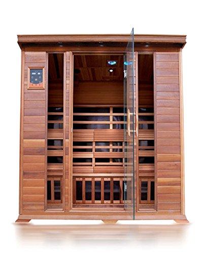 SunRay Sequioa 4 Person Infrared Cedar Sauna with Carbon Heaters