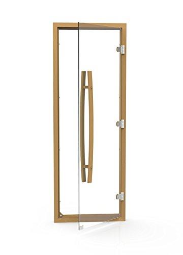 All Clear Glass Cedar Sauna Door W Vertical Handleamp Reversible Hinges