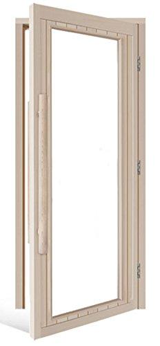Clear Glass Cedar Ada Sauna Door right Hand Hinge