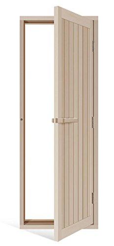 Solid Aspen Sauna Door With Reversible Hinges