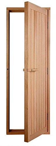 Solid Cedar Sauna Door With Reversible Hinges