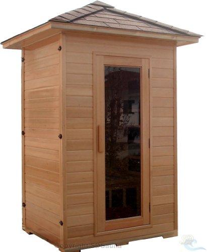 SDI Factory Direct 2 Person Outdoor WetDry Swedish Steam Traditional Sauna Canadian Hemlock