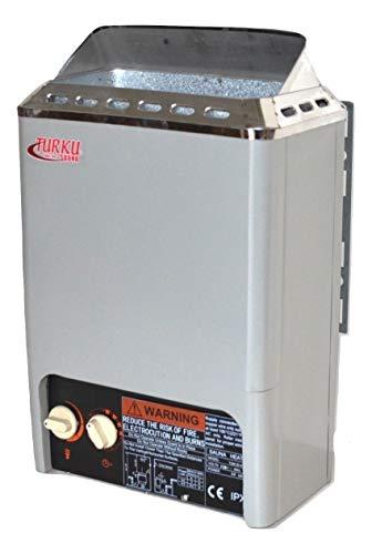 TURKU 2000W 110V 90 CuFt Mini Type Electric Sauna Heater Stove Built-in Control for Traditional Sauna