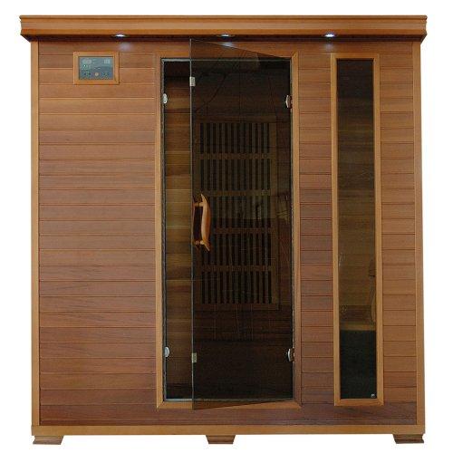 4-Person Cedar Infrared Sauna w 9 Carbon Heaters