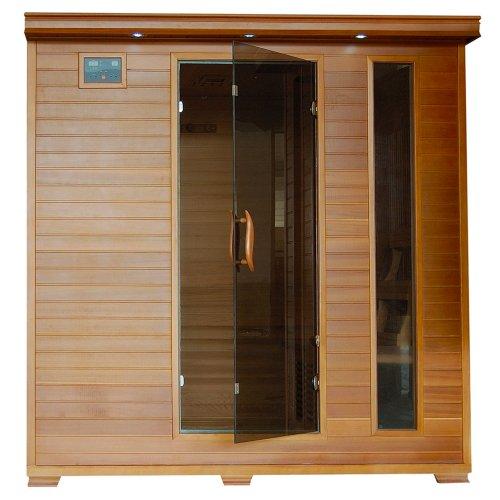 6-Person Cedar Infrared Sauna w 10 Carbon Heaters