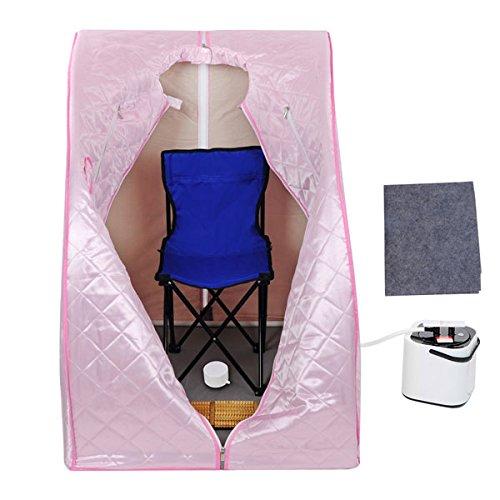 2l Portable Steam Sauna Spa Tent W Chair Pot Foot Massage Control pink