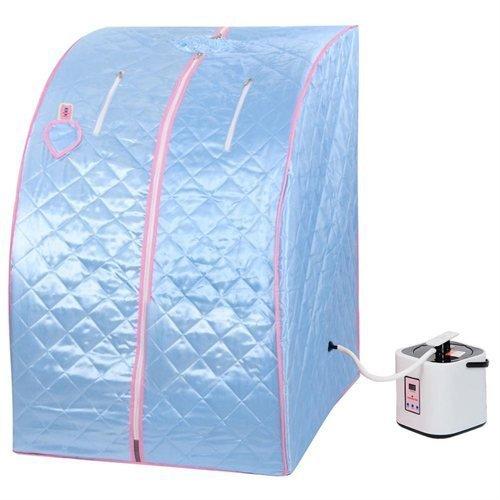 2l Portable Steam Sauna Tent Spa Detox Weight Loss W Chair Blue