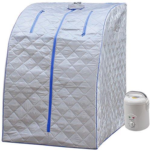 Durherm Portable Personal Folding Home Steam Sauna blue Outline