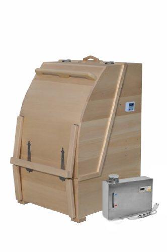 Mini Steam Sauna Cedar Barrel Body Rejuvenation Home Spa With Steam Generator