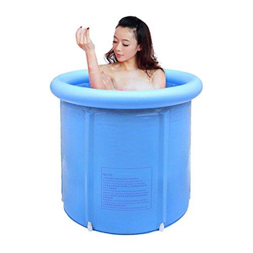 Wang&ampliangfolding Tub Inflatable Bathtub Bath Sauna Bath Barrel Thickened In Adult Bath Barrel  Blue  7070