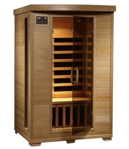 2-person Hemlock Deluxe Infrared Sauna W 6 Carbon Heaters