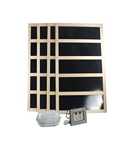 Complete Infrared Sauna Heater Package -1200 Watts -Digital Controller-240VAC