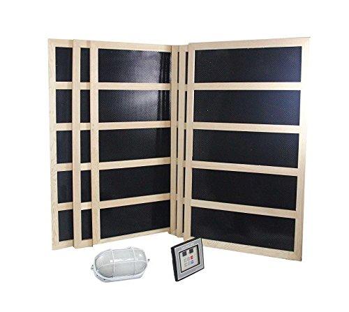 Complete Infrared Sauna Heater Package - 1800 Watts-Digital Controller-120VAC