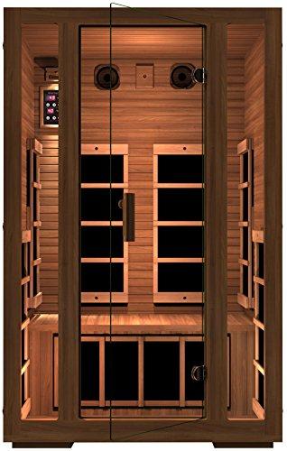 Jnh Lifestyles Freedom 2 Person Canadian Western Red Cedar Wood Far Infrared Sauna 7 Carbon Fiber Heaters 5
