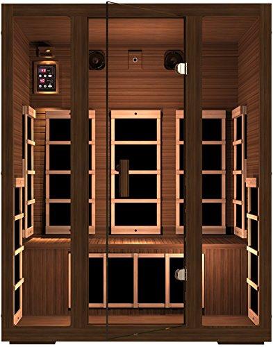 Jnh Lifestyles Freedom 3 Person Canadian Western Red Cedar Wood Far Infrared Sauna 8 Carbon Fiber Heaters 5