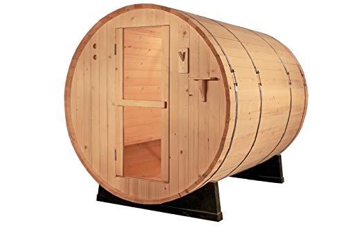 SymbolicSpas Outdoor Canadian Redwood Cedar 4 Person 6 Barrel WetDry Sauna SPA 6KW or 9KW Heater