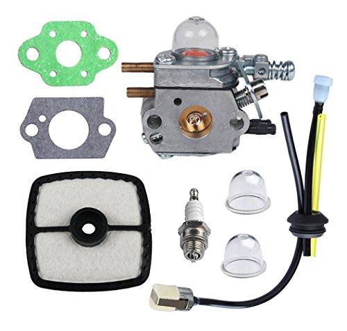 HIFROM C1U-K52 Carburetor Repower Maintenance Kit with Gaskets Air Filter Spark Plug for ECHO GT2000R GT200EZR PAS2000 PAS2100 SHC1700 SHC2100 Series Power Pruner Trimmer