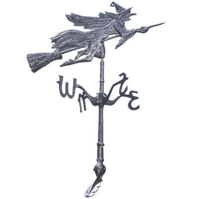Design Toscano Windblown Wicked Witch Metal Halloween Weathervane Roof Mount