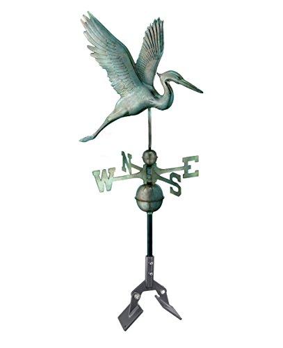 Good Directions 1971V1 Graceful Blue Heron Blue Verde Copper Weathervane Includes 401AL Roof Mount