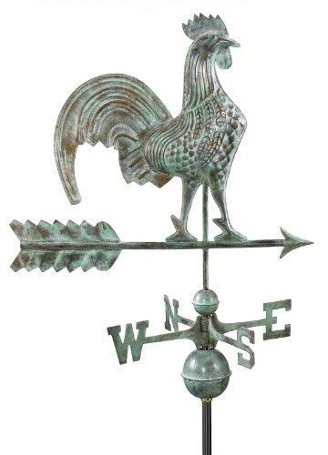 Good Directions 501v1 Rooster Weathervane Blue Verde Copper